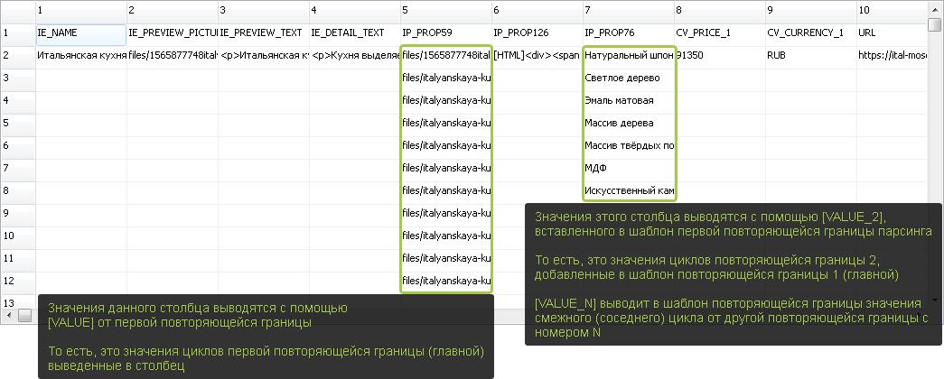 Таблица CSV